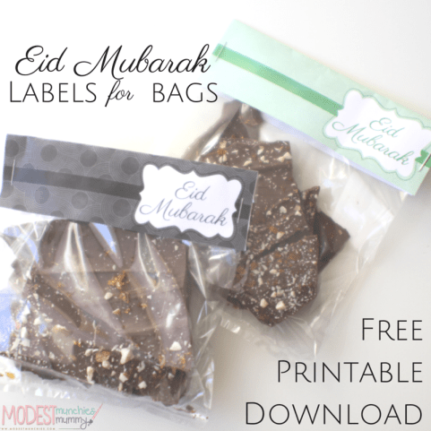 Eid mubarak labels and downloadable printable ideas