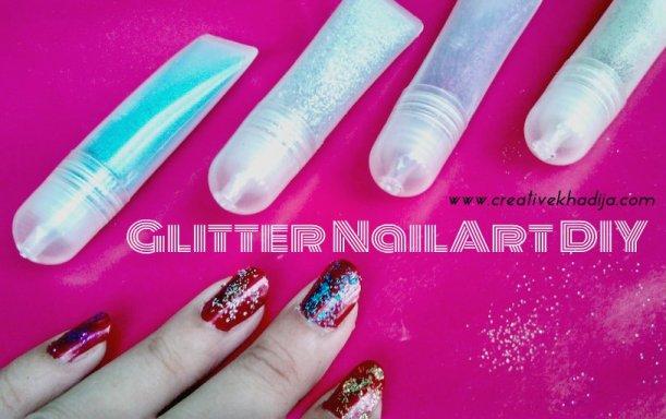 glitter nail art DIY