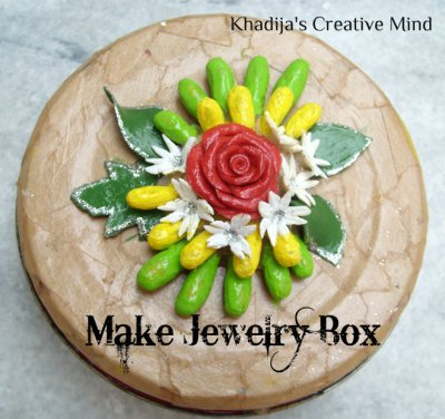 dough clay jewelry box designing