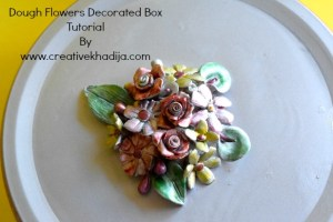 How To Decorate Tin Box With Dough Flowers Embellishment