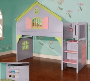 girls loft bed