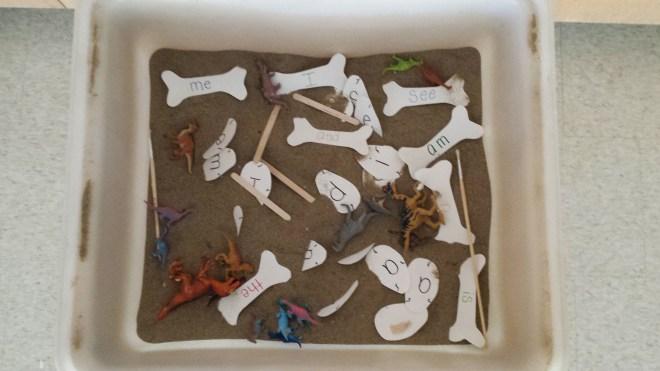 dinosaur sand table 2