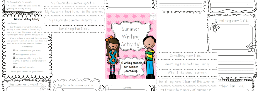Summer Writing Activity! | Creative Kindergarten