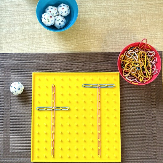 Reinforce literacy skills with these fun, hands-on activities. Students will practice letter recognition and letter formations while using this fun manipulative and geoboards.