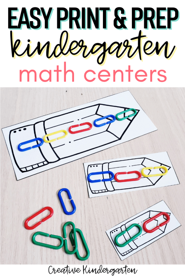 These hands-on kindergarten math centers are perfect for working on a variety of skills. They are easy to prep and will be perfect for reinforcing math skills throughout the year.
