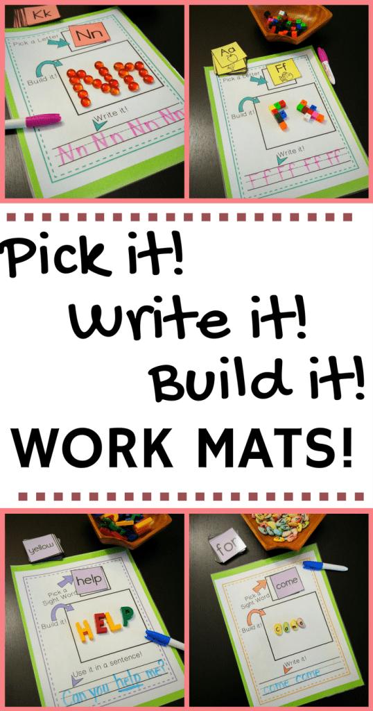 Pick it! Write it! Build it!- Blog