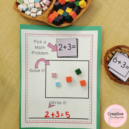 Reinforce number sense skills with these math work mats. Differentiate you math learning centers by picking the work mat that work on skills they need.