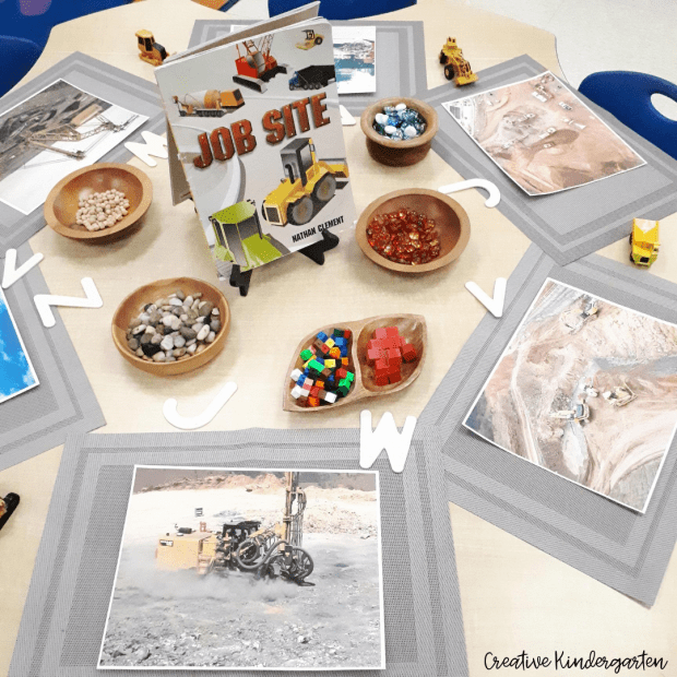 Construction site alphabet provocation