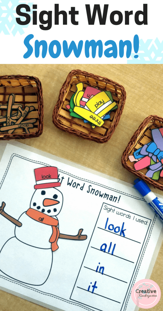 Sight word snowman