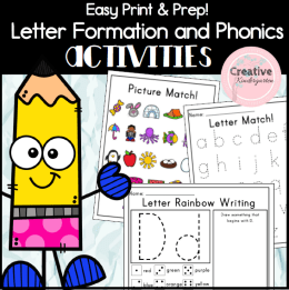Easy Print and Prep Activity Pack for Letters square preview