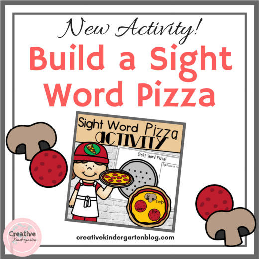 Build a sight word pizza literacy activity for kindergarten