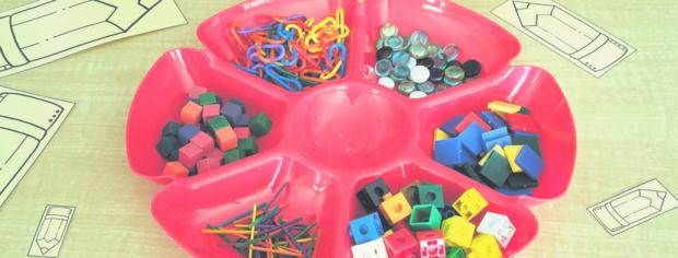 Loose parts for measurement math centers in kindergarten