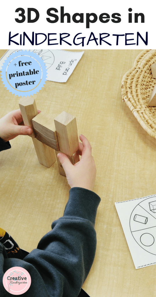 Teaching 3D shapes in kindergarten with fun, hands-on math centers, activities and worksheets. Includes free printable posters to help with 3d shape attributes.