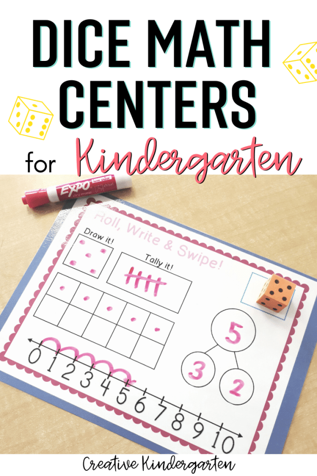 Dice Math: Reinforce number sense and math skills with these dice math centers. These activities will work on numbers, addition, subtraction, and more!