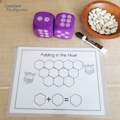 Addition in kindergarten. Hands-on, low prep and fun math centers for your adding unit in kindergarten.