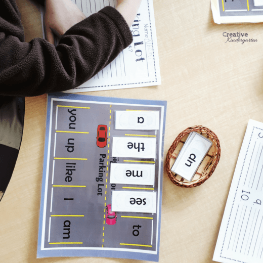 3 play-based kindergarten literacy center ideas to practice sight word recognition and spelling.
