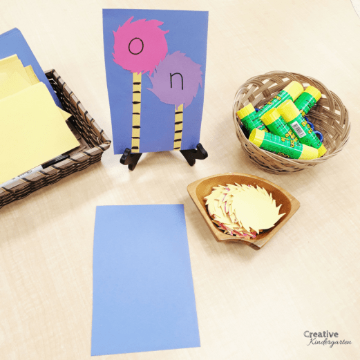 Truffula tree sight word activity to celebrate earth day . Practice spelling sight words with this simple literacy activity.
