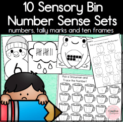 Sensory Bin Math Sets- Square preview