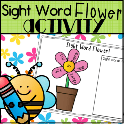 Sight Word Flower- Square Preview