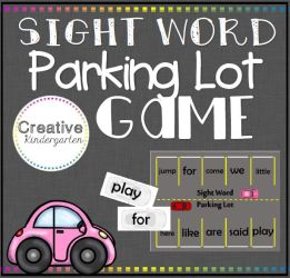 Sight word parking lot square