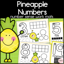 Pineapple Number Mats square preview2