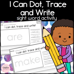 I Can Draw, Trace and Write Sight Words Square Preview