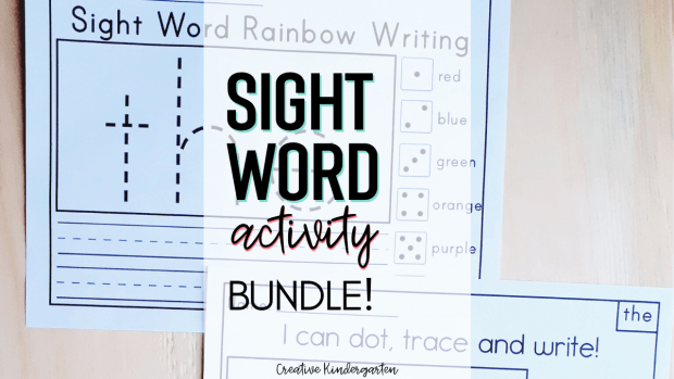 Sight word worksheets to reinforce sight word recognition and spelling. Fun and engaging literacy centers for your kindergarten classroom.