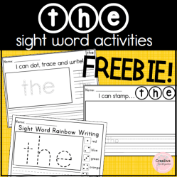 The Sight Words Activities Freebie- square preview
