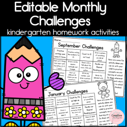 Editable Monthly Challenges square cover