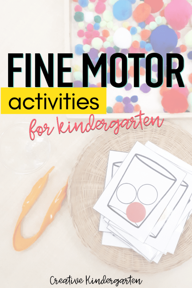 Activity ideas to work on fine motor skills with your kindergarten students. These skills are important for self-help and writing skill development.