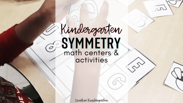 Kindergarten symmetry math centers. Hands-on and engaging centers and printables for easy prep.