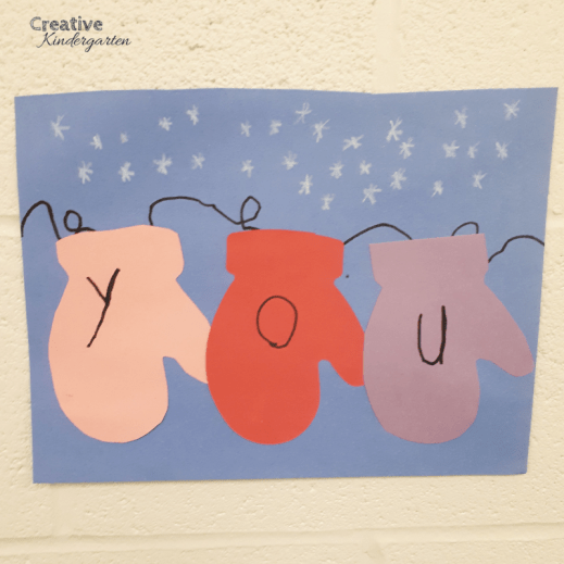 Sight word winter craft to reinforce sight word recognition and spelling with this cute art activity that incorporates literacy skills.