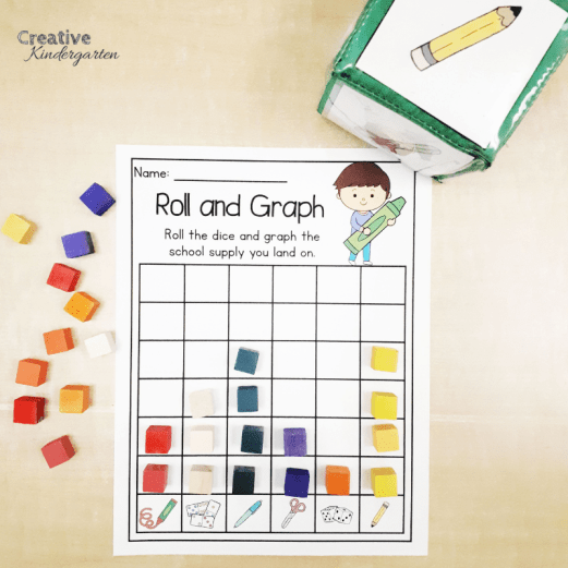 Teach graphing with these fun, hands-on math centers. Have students roll, spin or color to practice making a graph.