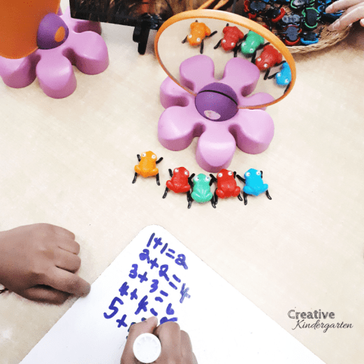 Work on doubles with this math provocation and mirrors. A simple, hands-on activity to practice addition and making doubles in kindergarten.