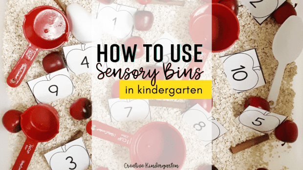 How I use my sensory bin in my kindergarten classroom. I share play-based learning activities that are fun and engaging to use in your classroom.