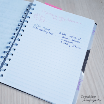 Organizing my teaching, personal and professional life. Find my best tips and tricks to organize your life. Planners, calendars, to-do lists, all the best ideas to keep you organized throughout the school year. #orgnization #teacherorganization #creativekindergarten