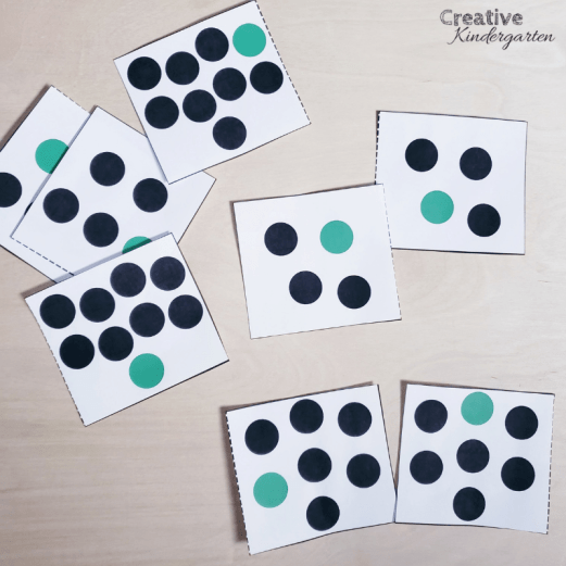 A review of Counting Principles for kindergarten number sense. Free order irrelevance matching cards for your students to use to practice their number sense skills. FREEBIE included! #orderirrelevance #numbersense #creativekindergarten