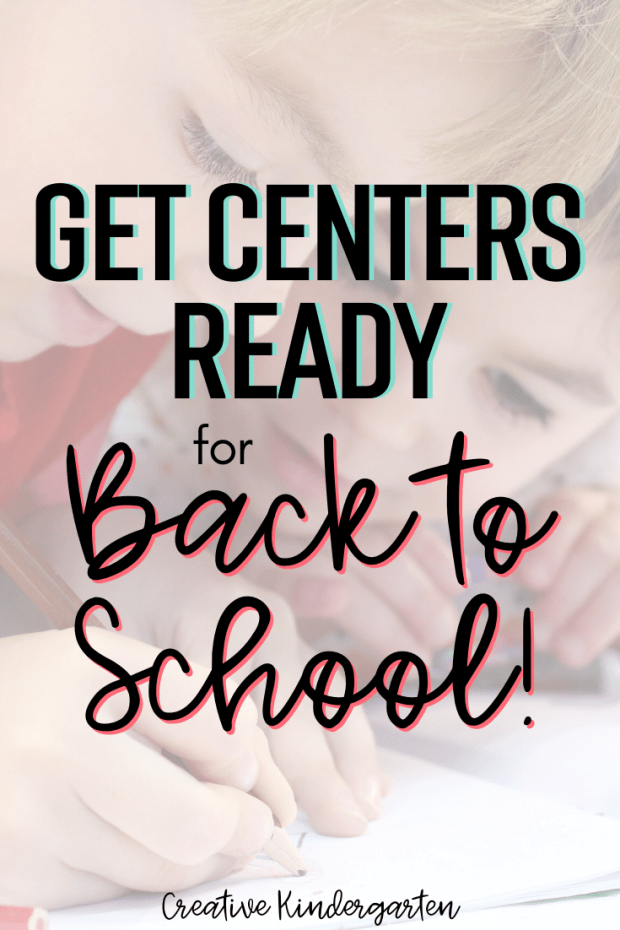back to school centers for kindergarten. Math and literacy activity ideas for teachers
