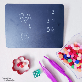 Roll and fill fine motor activity using cookie cutter. Fun and engaging, these activities will develop fine motor skills for your kindergarten students.