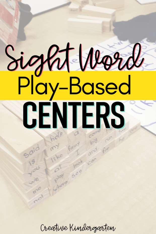 Find play-based sight word activities for your kindergarten classroom. These hands-on literacy centers will reinforce sight word recognition and spelling.