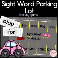 sight word parking lot square preview