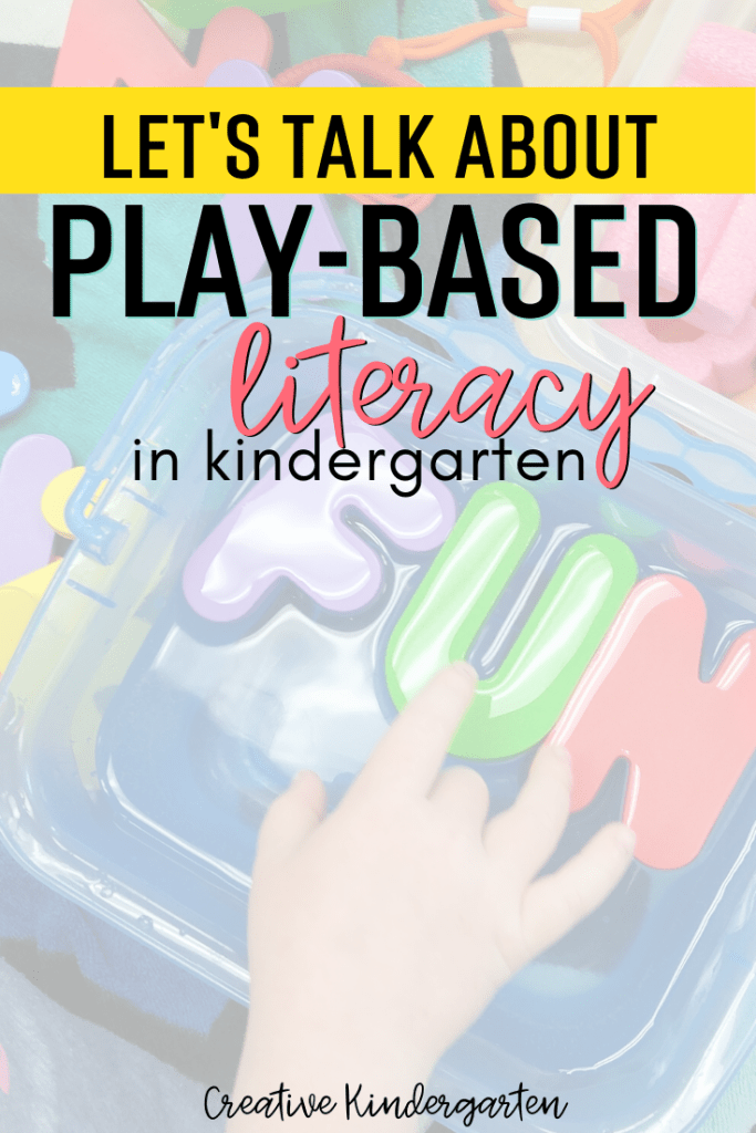A discussion about play-based literacy learning in the kindergarten classroom. What that looks like, what it means and how it works in my classroom.