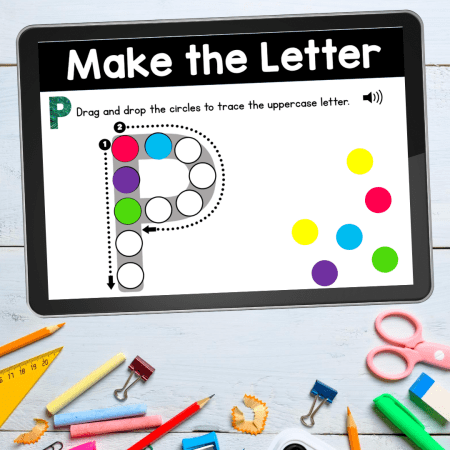 Reinforce uppercase and lowercase letter recognition, letter formation, and letter sounds with hands-on and engaging activities. These digital task card decks will work on learning to identify and name the letters of the alphabet.