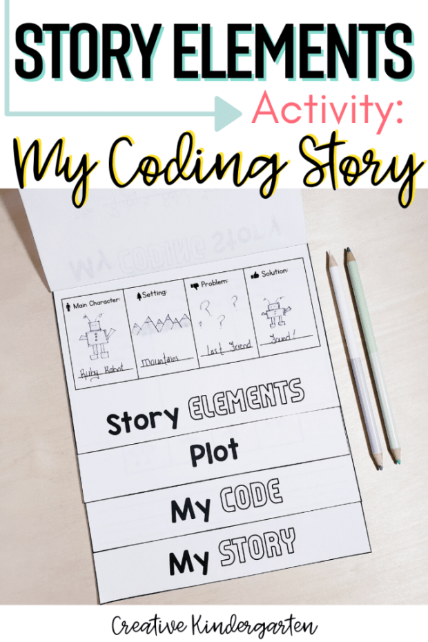 Use a fun and interactive activity to teach about story elements and have students create their own coding story on paper or digitally.