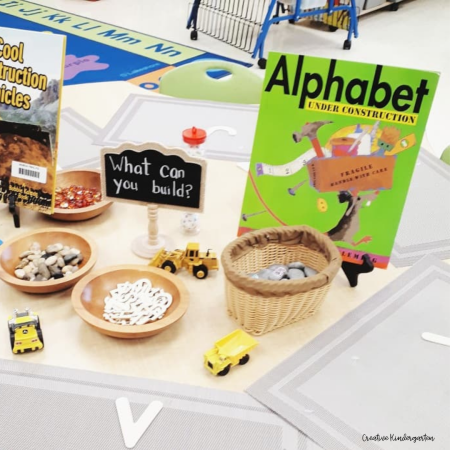 Provide your students with the opportunity practice letter recognition and letter formation with loose parts. This alphabet center is the perfect way to engage students in hands-on learning.
