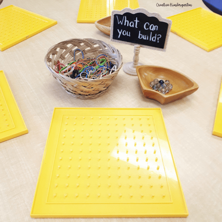 Challenge your students to build using geoboards and marbles. A fun and engaging STEM activity for your students.
