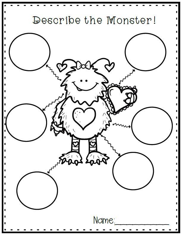 Valentine's Day Kindergarten Literacy Centers