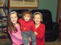 Both Kaylin and Karis wearing a headband