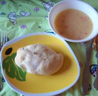 Crescent Chicken Bundles with Cheesy Potato Soup