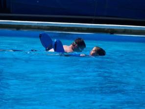 Karis swimming